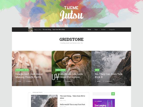Gridstone: Elegantly Built for Blogger