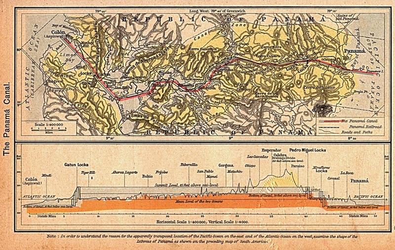 Canal de Panamá Mapa